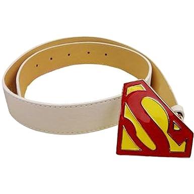 Superman Ceinture Boucle Accessoire Mode Top Blanc  Amazon.fr ... 5821d4702d6
