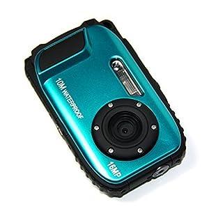 GordVE KG003 2.7 Inch LCD Cameras 16MP Digital Camera Underwater 10m Waterproof Camera+ 8x Zoom--Blue
