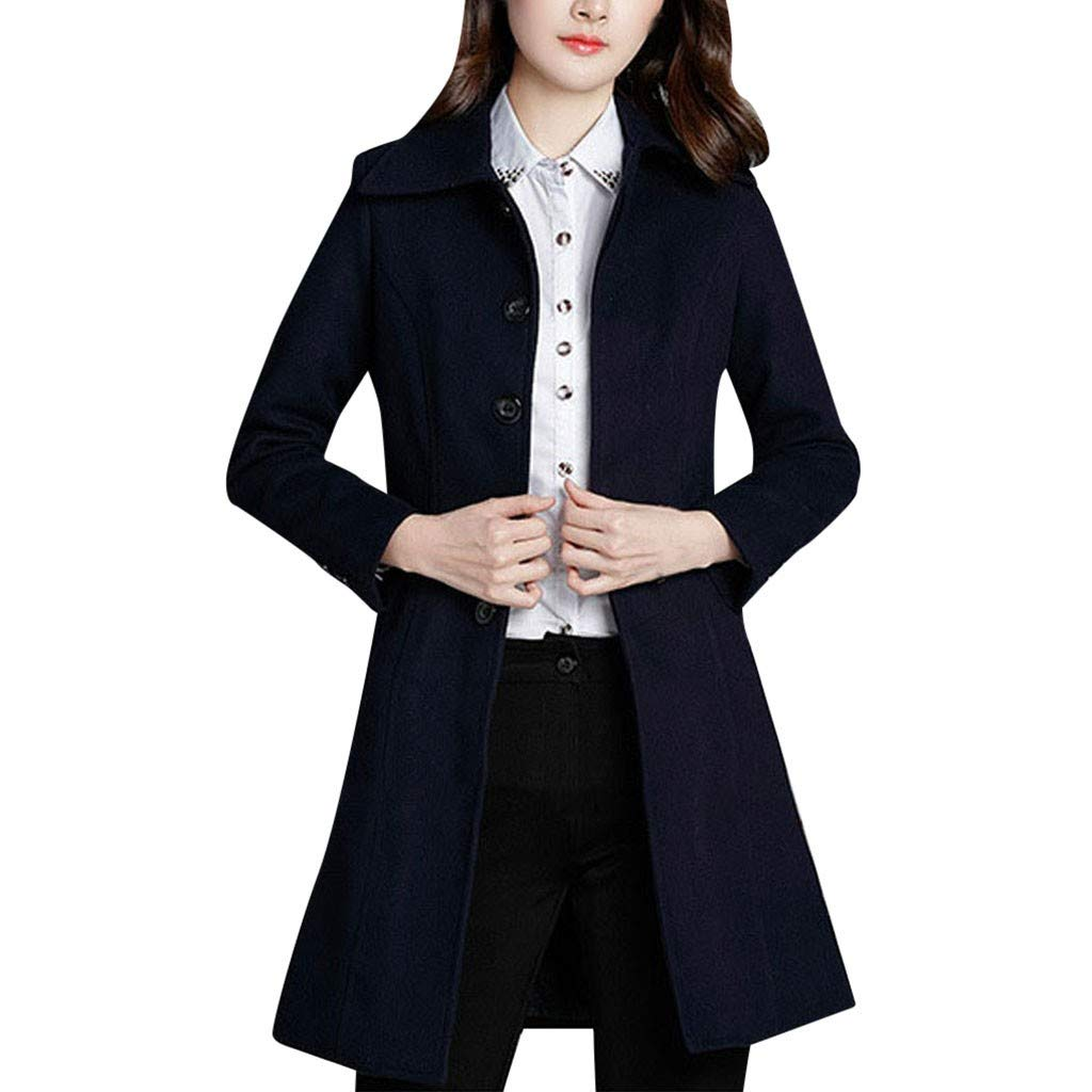 Yanvan Coat Jacket for Women Professional Wear Medium and Long Jacket Thick Woolen Cotton Coat by Yanvan