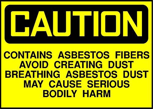 Asbestos Fibers, Avoid Breathing Dust Caution OSHA/ANSI Label Decal Sticker 8