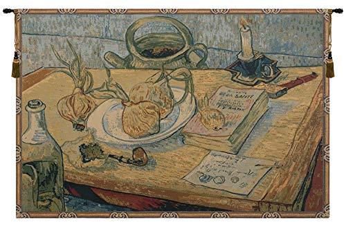 Garlic Still Life Italian Tapestry Wallhanging