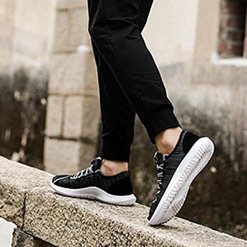 Deportes Primavera Cordones para Negro Zapatos Verano Gym Malla Casual de Running QinMM Hombre Respirable Zapatillas otoño EOtaqf