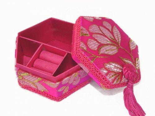 Brocade Ring Box (Pink Chinese Brocade Jewelry)