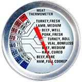 VonShef Stainless Steel Meat Dial Thermometer