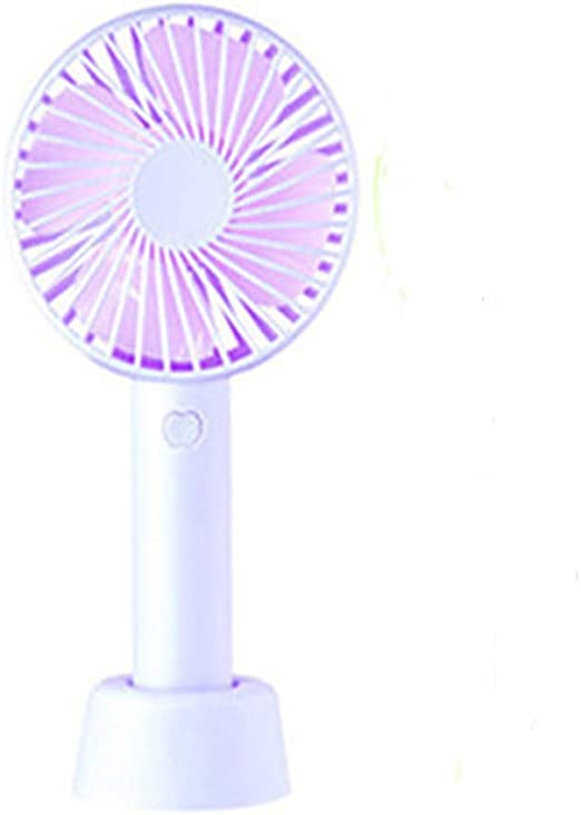 Zxcvlina Portable Personal USB Fan Handheld USB Fan Portable Outdoor Personal Rechargeable Cooling Desktop Fan 3 Model for Home Office Outdoor Travel Color : White, Size : One Size