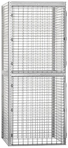 Salsbury Industries Bulk Storage Locker Double Tier Starter, 36-Inch, 36-Inch