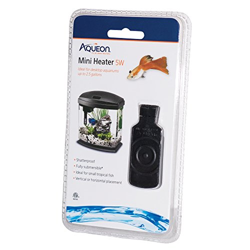 Aqueon Mini Heater for Aquariums, 5W, Under 2.5 Gallon