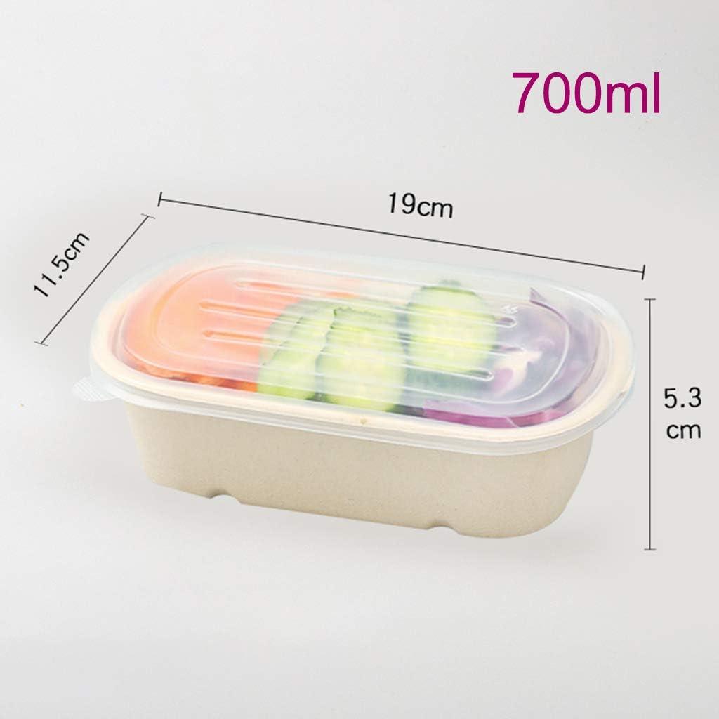 ADKINC 使い捨て弁当(200パック)、食品保管容器、積み重ね可能な弁当箱、電子レンジ対応でフリーザーセーフ、ランチコンテナ(茶色) ADKINC