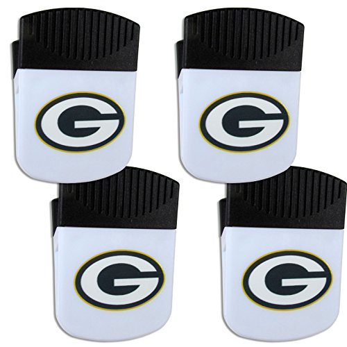 Siskiyou NFL Green Bay Packers Chip Clip Magnet with Bottle Opener, 4 Pack
