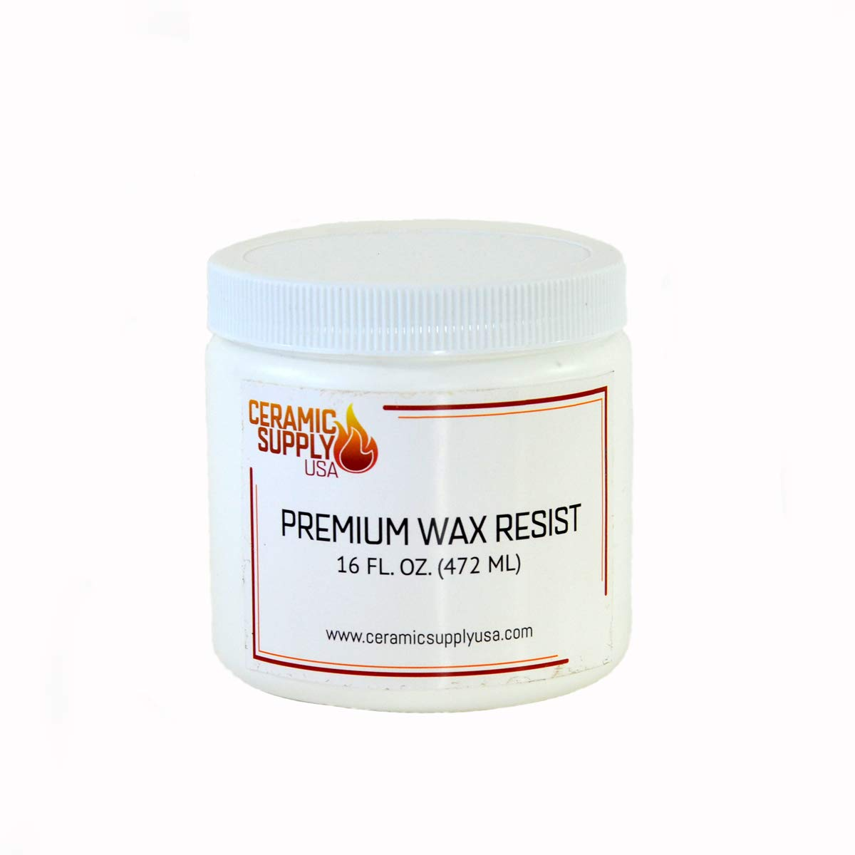 Ceramic Supply USA - Premium Wax Resist for Pottery & Ceramics - Pint - Highly Repellant Brushable Wax for Glazing- Non Toxic - Fast Drying - Non Tacky Dried Surface - Won't Peel or Bubble