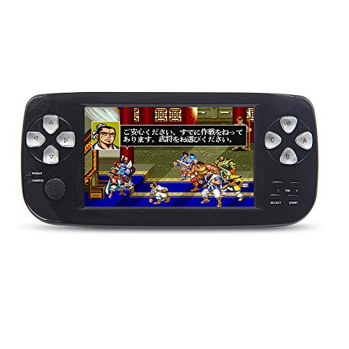 JXD Handheld Game Console Retro Video Game Console Build-in 1300 No-repeat Game for NEOGEO\CPS\GBA\GBC\GB\SFC\FC\MD\GG\SMS 4.3''TFT Screen 64Bit Games Support (Sms Screens)
