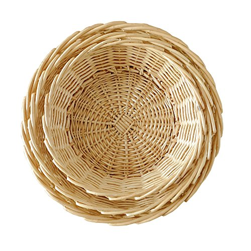Fruit Bowl,Set of 3,Wicker Fruit Basket Bread ()