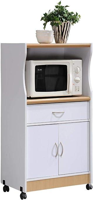 Amazon.com: HODEDAH IMPORT Carrito para microondas, Haya ...