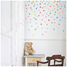 "2"" Mini Confetti Sorbet Colored Polka Dots Wall Decals Stickers Repositionable Peel and Stick"