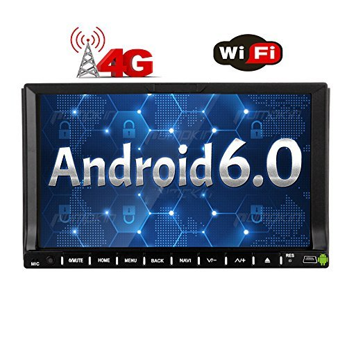 4G Dongle + 7 inch Android 6.0 Car Stereo Quad-core Touch Screen Head Unit Double Din Radio Auto Car Audio in Dash GPS Navigation Bluetooth WiFi Mirroring OBD DAB+ USB/SD Car DVD Player