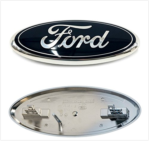 Kimoo F-9BSP Black 2005 2006 2007 F250 F350 F-450 F-550 Super Duty Front Grille 9 Inch Emblem Badge Nameplate For Ford