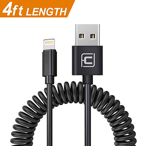 CAFELE Coiled Lightning to USB Cable , Durable and Fast Char