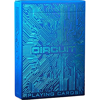 Circuit Ice Blue Playing Cards, Creative Deck of Cards, Premium Card Deck, Cool Poker Cards, Unique Bright Colors for Kids & Adults, Computer Themed, Black Playing Cards
