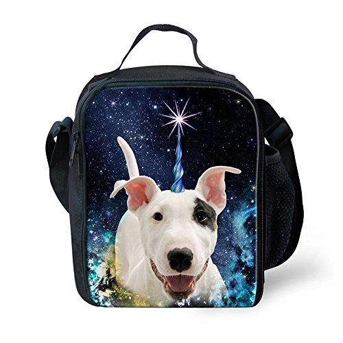Showudesigns Fashuion - Bolsa de almuerzo para niños, diseño de animales Small Cat 3 Bull Terrier 1