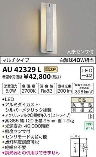 AU42329L 電球色LED人感センサ付アウトドアポーチ灯 B01GCAYEC6