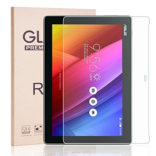 ASUS ZenPad 10 Z300M 10.1-Inch Screen Protector [Tempered Glass], RBEIK Premium 9H Hardness Tempered Glass Screen Protector for ASUS ZenPad 10 Z300M Z300C Z300CG Z300CL 10.1 Inch Tablet [Anti-Scratch] (Asus 10 Tablet Screen Protector)