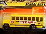 """Yellow SCHOOL BUS Matchbox 1998 Big Movers Series Yellow """"Oaklyn Middle School"""" Bus 1:64 Scale Collectible Die Cast Metal Toy Car Model #12/75"""
