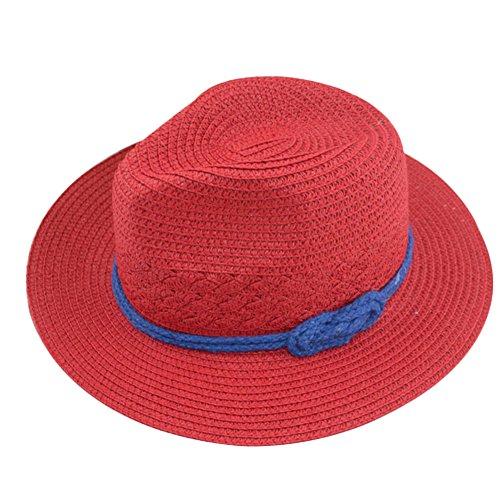 Diffstyle Women Straw Hat Beach Ribbon Wide Brim Cloche Hat Summer Bucket Hat
