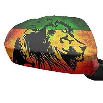 FuYunCen Rasta Lion Judah Mirror Covers For Cars Side View Mirror Covers
