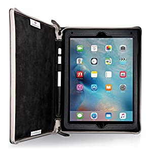 Twelve South BookBook for iPad | leather book case and display stand for iPad 2018 / Pro 9.7-inch, Brown