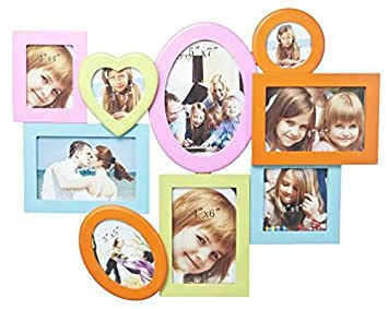 Amazoncom Ganz Multi Color 9 Photo Collage Wall Frame