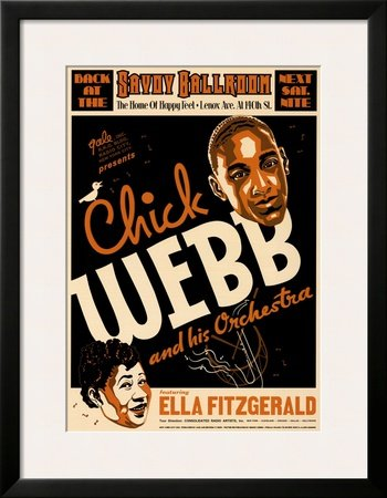 Chick Webb and Ella Fitzgerald at the Savoy Ballroom, New York City, 1935 Framed