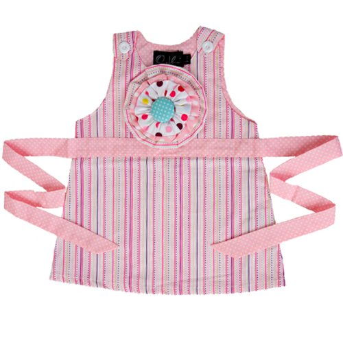 Price comparison product image Oobi Baby Vintage Corsage Dress - Pink Stripes,  size 3-12 months