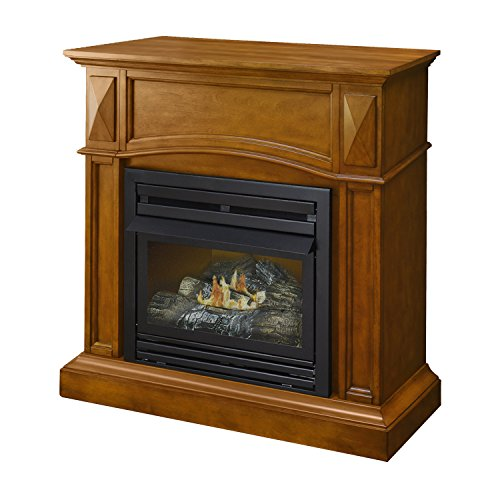 vent free gas fireplace corner - 2