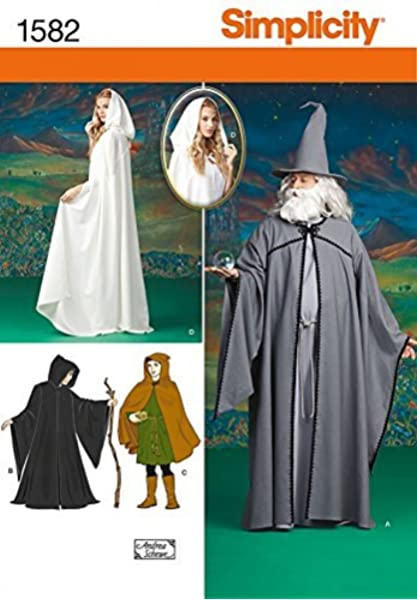 Simplicity 8721 Womens Cape Costume Sewing Pattern One Size