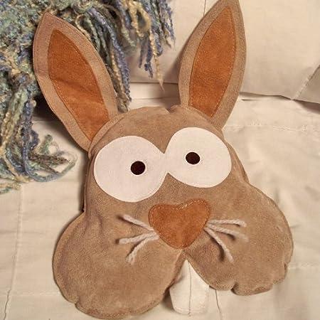 Bernie de paja con diseño de conejo y lavanda calentona/bolsa apta ...