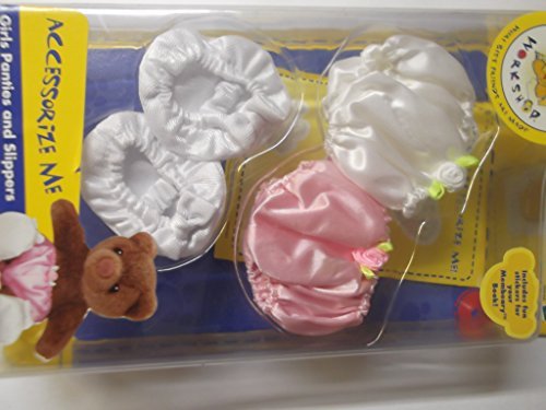Build A Bear Accessorize Me Girls Panties and Slippers