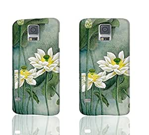 White Lotus 3D Rough Case Skin, fashion design image custom, durable hard 3D case cover, Case New Design for Samsung Galaxy S5 I9600 , By Codystore