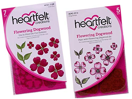 Bundle Heartfelt Creations Dies+Stamp Set Flowering Dogwood, ()