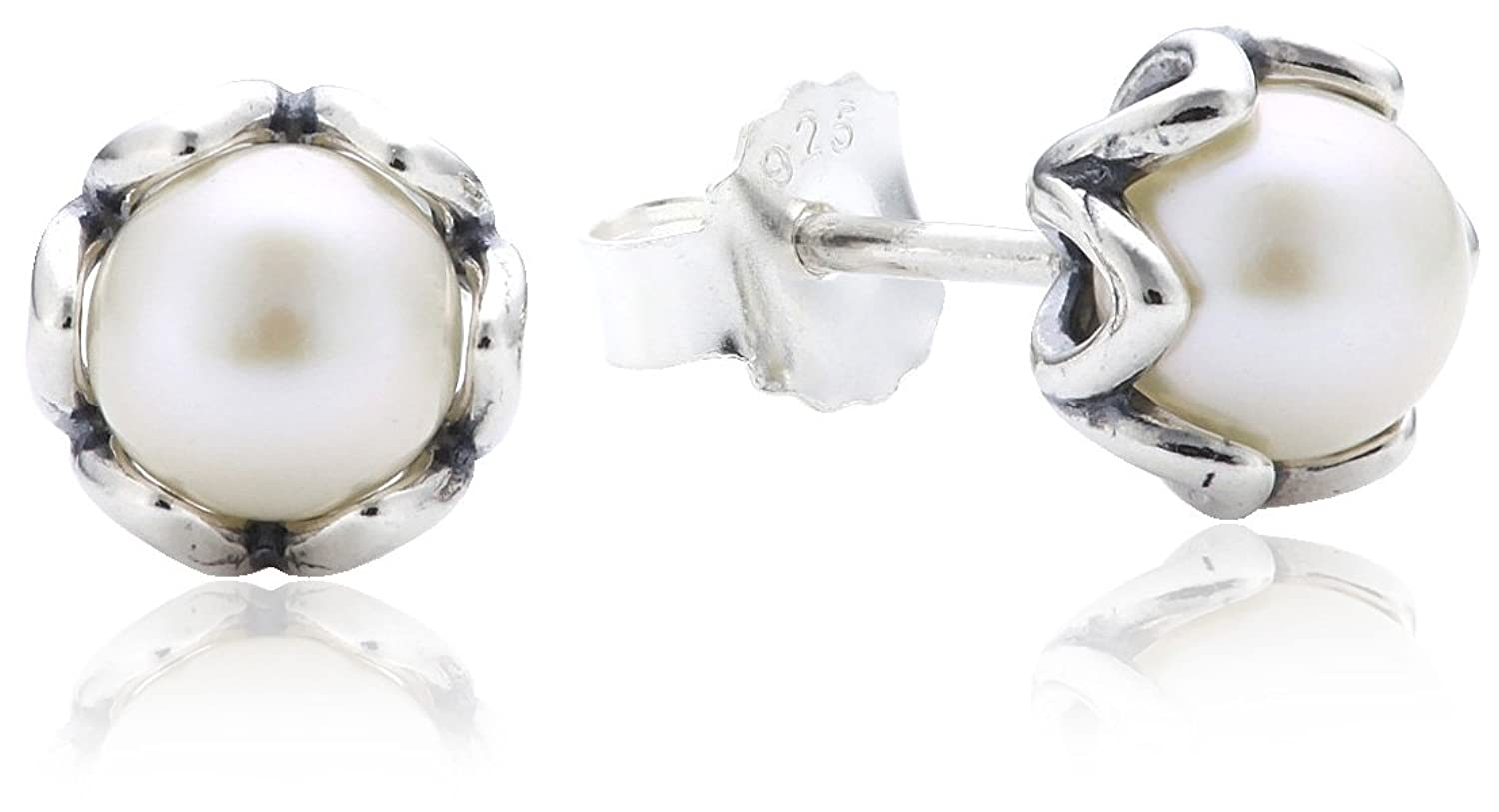 Amazon: Pandora 290533p Earrings White Freshwater Pearl Silver: Jewelry