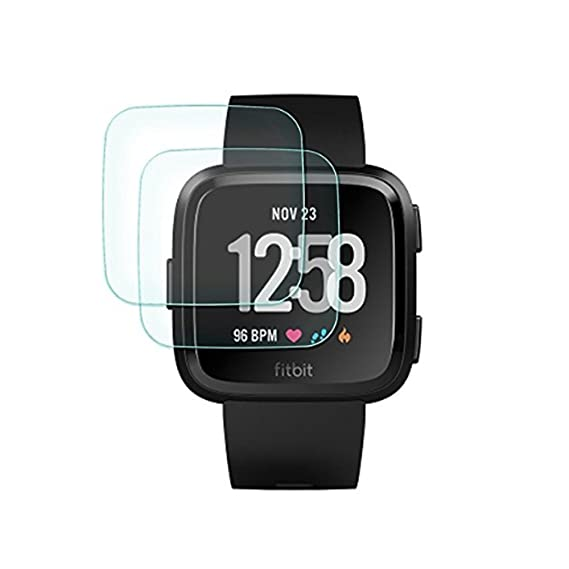 e481d59ae (2 Pack) Tempered Glass Screen Protector by kiq for Garmin Vivoactive HR  GPS Smartwatch