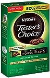 Nescafe Taster's Choice Decaf 5 Piece House Blend Instant Coffee Single Serve Sticks, 0.52 oz