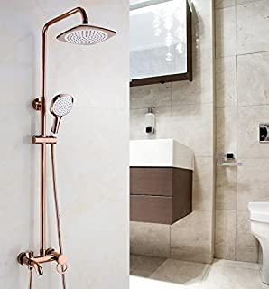 copper shower rose gold set bathroom faucet shower faucet hot and cold pressure showers