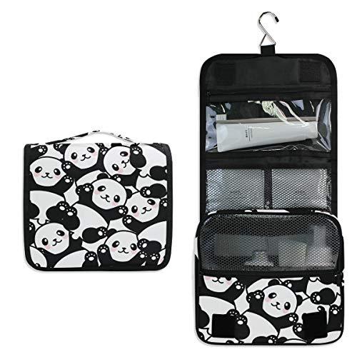 CUTEXL Cosmetic Bag Cute Panda Animal Paw Pattern Large Hanging Wash Gargle Bag Portable Travel Toiletry Bag Makeup Case Organizer for Women Lady - Four Paws Toothpaste