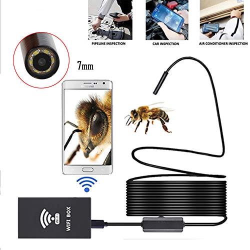 HUAXING Endoscopio inalámbrico, cámara de inspección Wi-Fi Premium Impermeable boroscopio 2MP CMOS cámara de Serpiente...