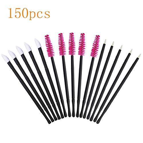 Mascara Wands Disposable Makeup Brushes Tool Kit Eyelash Brushes & Eyeliner Brushes & Lipstick Applicators 150pcs]()