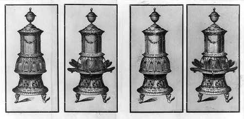 HistoricalFindings Photo: Advertisement,Old Fashioned Coal Stoves,1830-1900