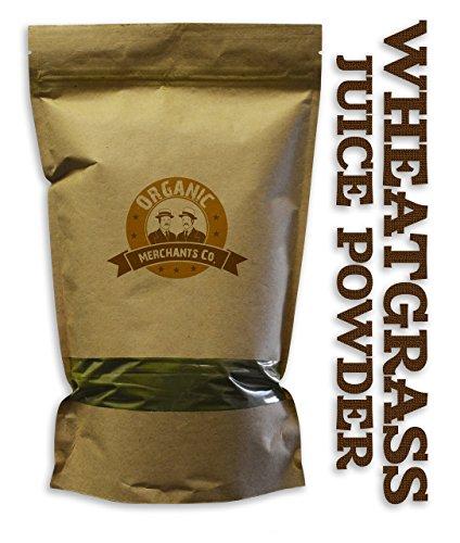 Organic Merchants Organic Wheatgrass Juice Powder - 8oz Package - Kosher, Non Gmo, Raw, Vegan (Wheat Grass Juice Frozen compare prices)