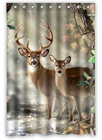 Creative Bath Deer Shower Curtain (48u0026quot; ...