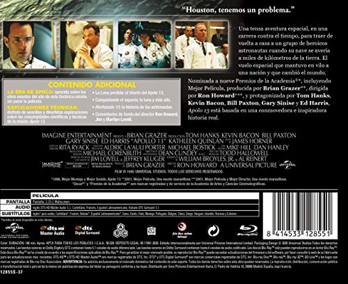 APOLO 13 - EDICIÓN HORIZONTAL (BD) [Blu-ray]: Amazon.es: Tom ...