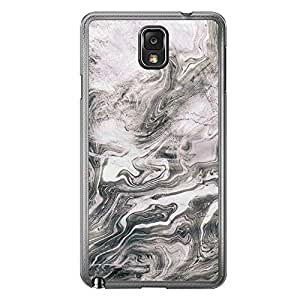 Loud Universe Samsung Galaxy Note 3 Madala N Marble A Random 2 Printed Transparent Edge Case - Silver
